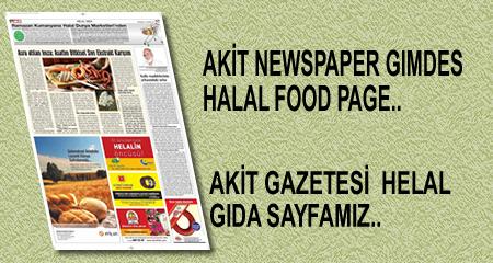 AKİT NEWSPAPER GIMDES HALAL FOOD PAGE IN THIS WEEK